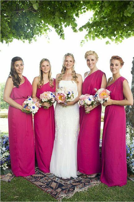 Vestidos de dama tonos rosa - Foro Moda Nupcial - bodas.com.mx
