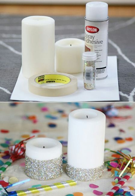 Como Decorar Una Vela En Una Copa Foro Manualidades Para Bodas - Como-decorar-una-vela
