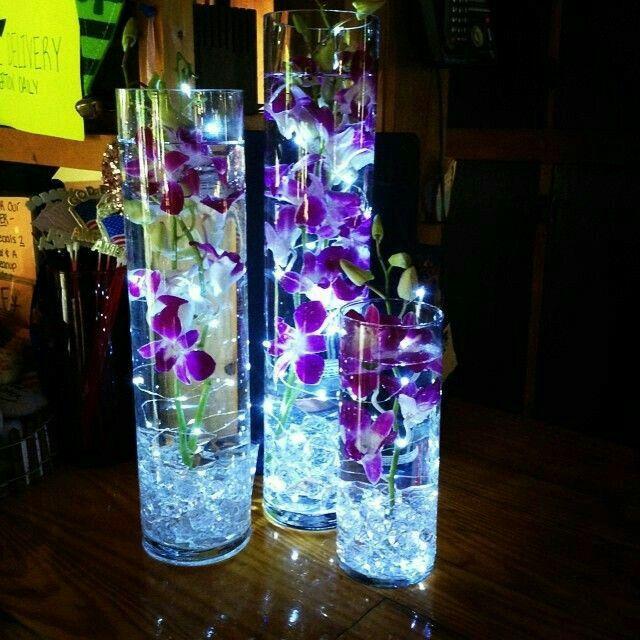 Centros de mesa, luz led - 10
