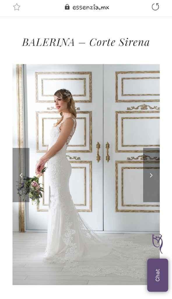 Vestido de novia corta sirena - 1