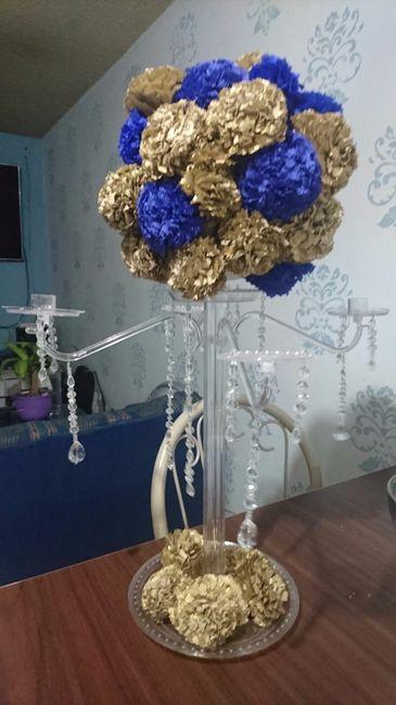 Avances centros de mesa recuerditos y vestido foro for Mesa cristal y dorado