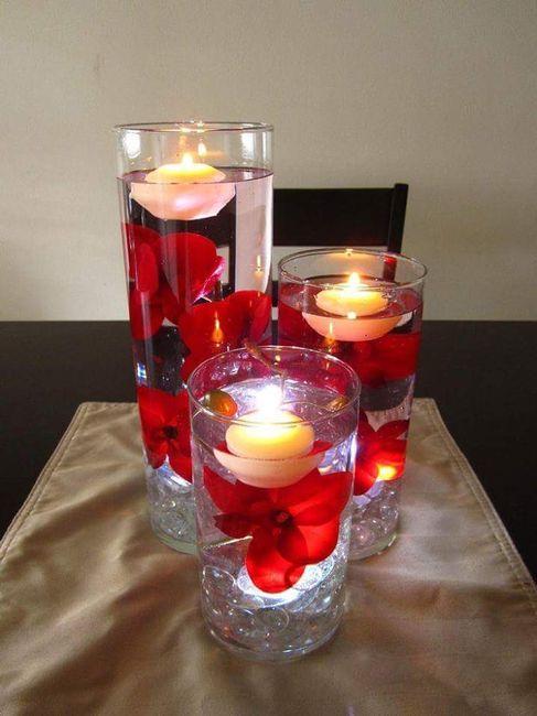 Flores en agua con velas imagui - Velas de agua ...