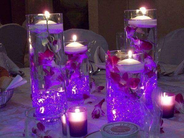 Arreglos de mesa con agua y velas foro antes de la boda - Velas de agua ...