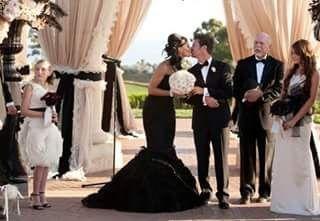 Vestido boda de dia negro