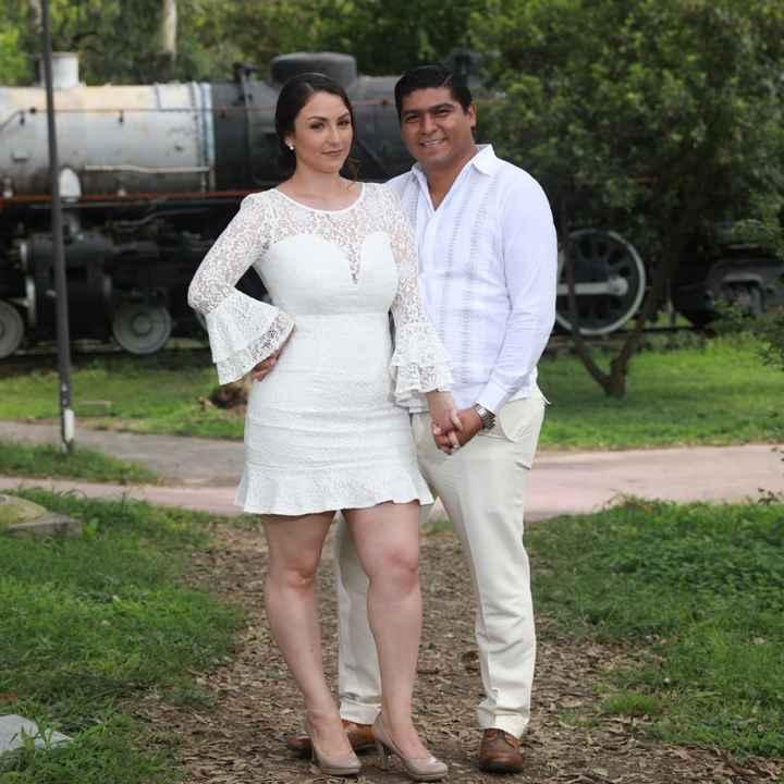 ¿Vestido corto o largo para boda civil? - 1