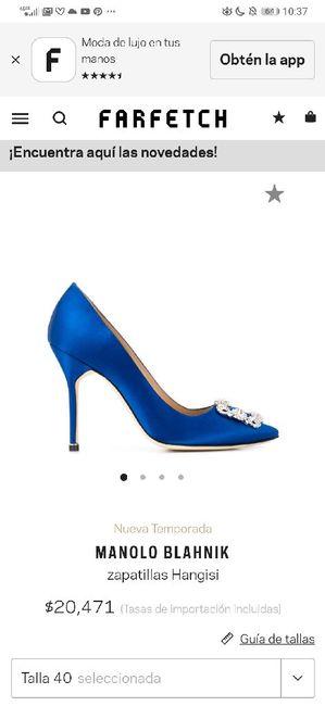 Zapato boda azul 💎 4