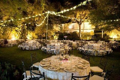 Arreglo de jard n foro organizar una boda for Decoracion jardin noche