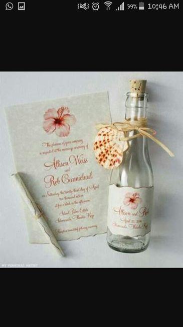 Invitaciones en botella para boda en playa - Foro ...