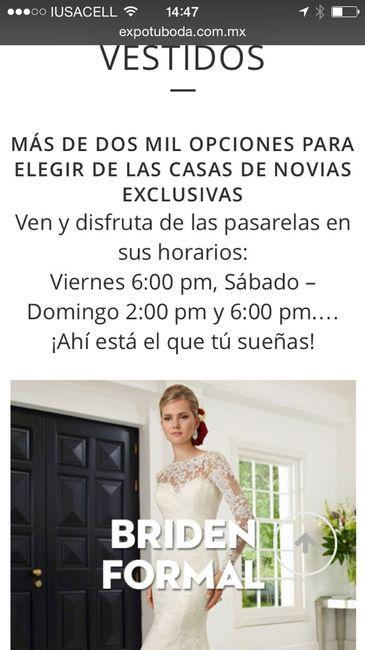 28c3331eb Dudas expo tu boda df - Foro Organizar una boda - bodas.com.mx