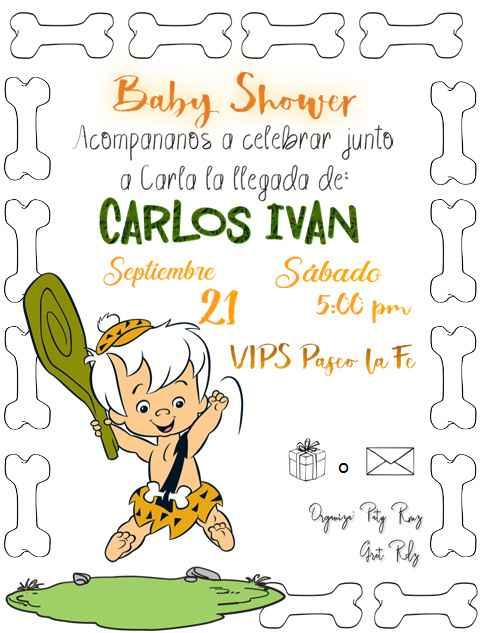 Invitación de mi baby shower