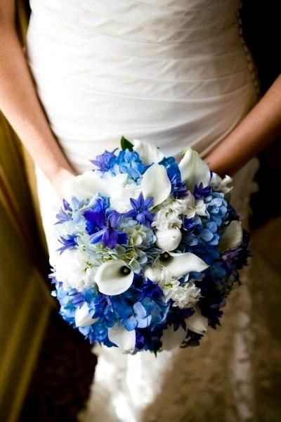dark blue flowers for wedding bouquets 2 ramos de novia azul foro bodas mx bodas 3308
