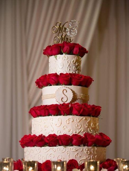 Pasteles de boda con flores 25