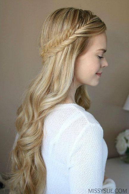 Hermosos peinados semi recogidos foro moda nupcial - Peinados de fiesta con rizos ...