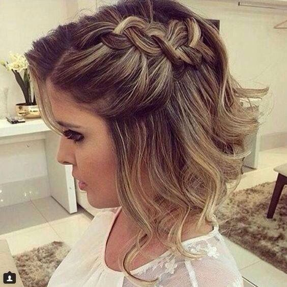 Peinados de boda de media melena