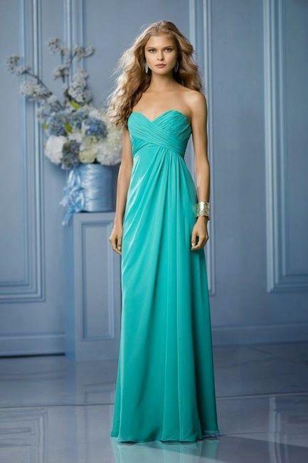 Ideas Vestidos De Dama En Color Aqua Foro Moda Nupcial