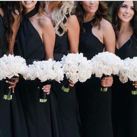 Vestidos de dama color negro