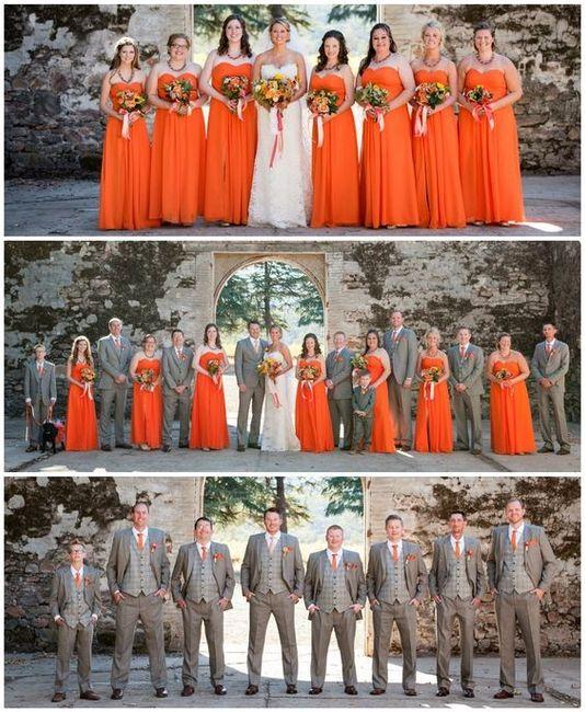 ideas: vestidos de dama en color naranja - foro moda nupcial - bodas