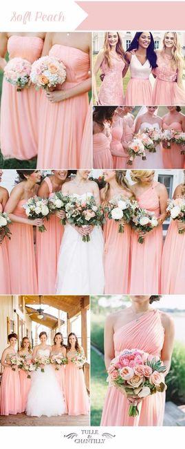 Ideas: vestidos de dama en color durazno - Foro Moda Nupcial - bodas ...