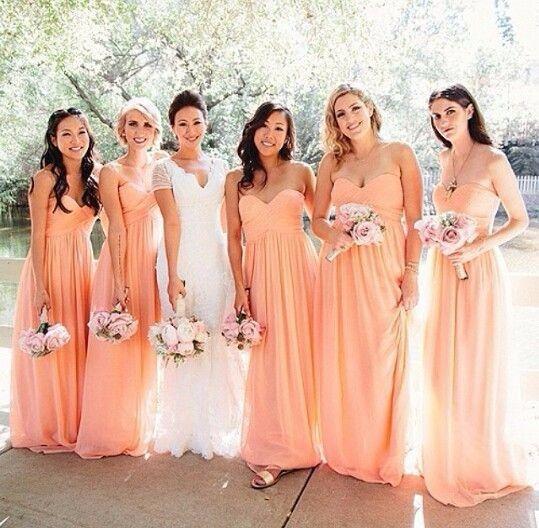 Ideas Vestidos De Dama En Color Durazno Foro Moda Nupcial