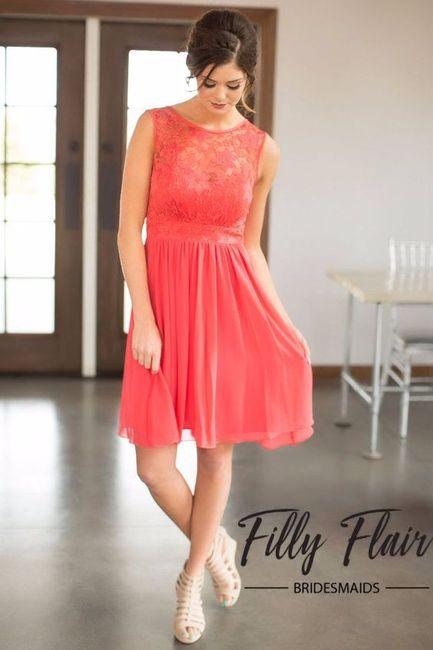 Ideas Vestidos De Dama En Color Coral Foro Moda Nupcial