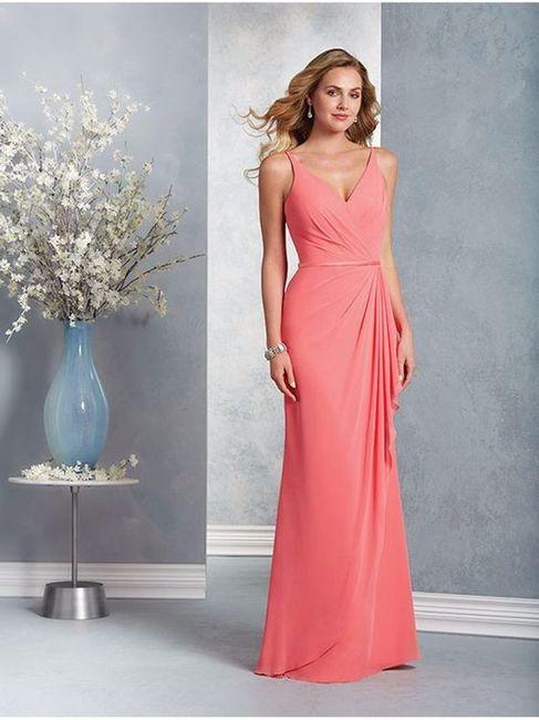 ideas: vestidos de dama en color coral - foro moda nupcial - bodas