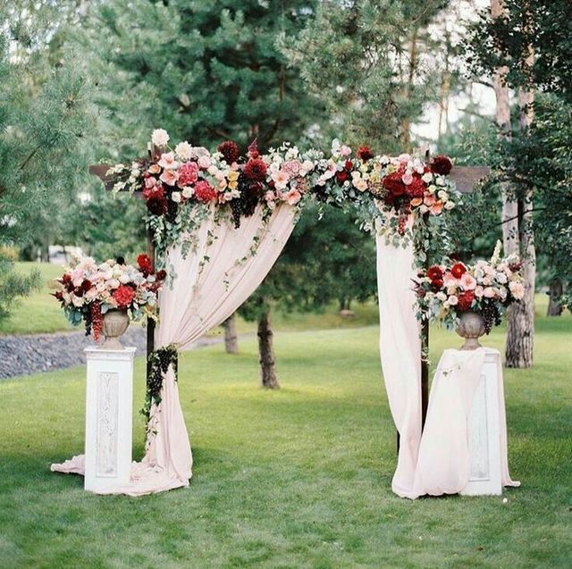 Wedding Altar Flowers Price: Arcos Con Tela Y Flores 🌺🌸