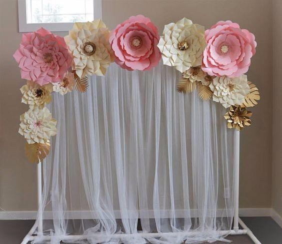 Ideas decoraci n con flores gigantes de papel foro for Cortinas plateadas salon