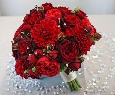 Ramos de novia con rojo Foro Moda Nupcial bodascommx