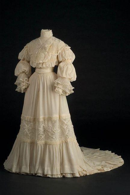 vestido de novia 1910