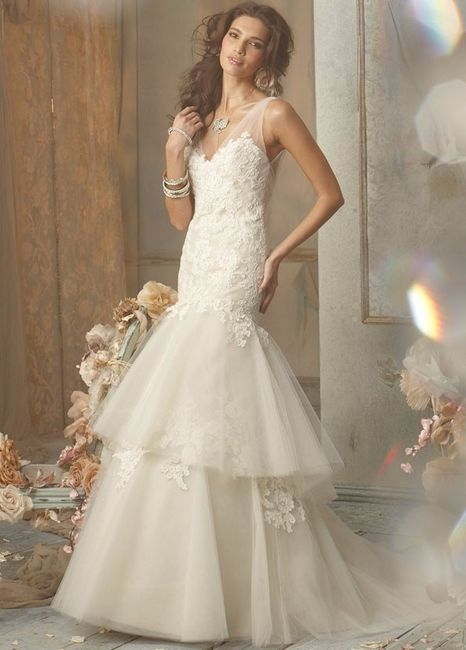 Vestido color hueso para boda