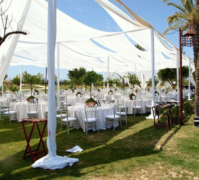 boda de jard n con telas foro organizar una boda bodas