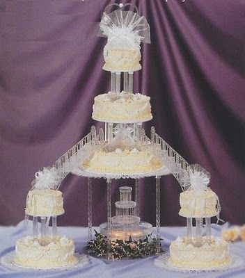 wedding cakes with fountain escoger lo antiguo o lo moderno foro banquetes bodas 26024