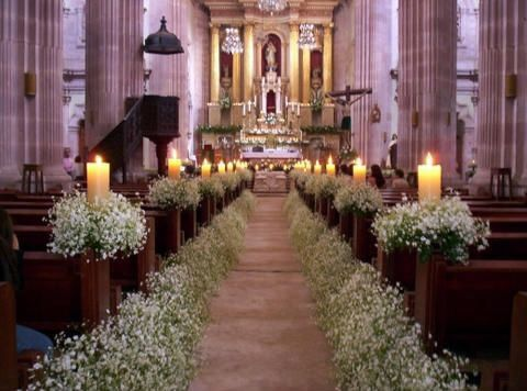 Decorar la iglesia con nube foro organizar una boda for Sillas para novios en la iglesia