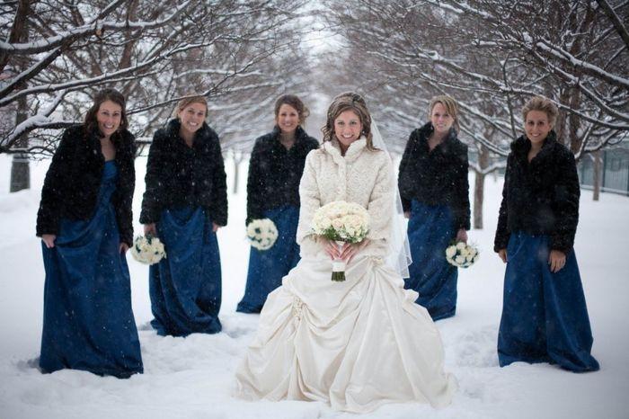 Vestidos para damas de honor invierno