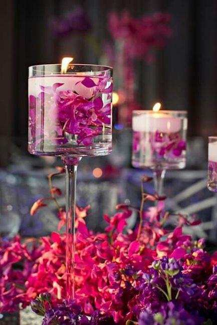 ideas arreglos velas flotantes