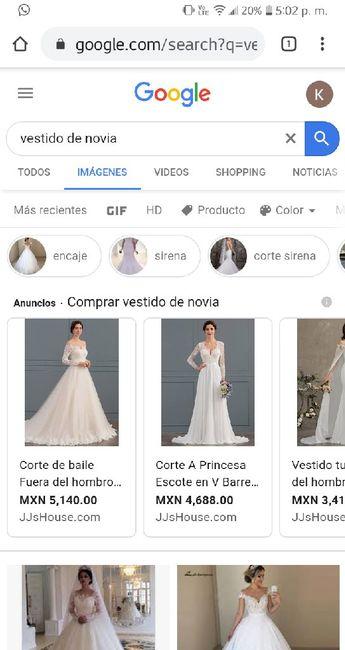 """[JUEGO] Si Googleas """"Vestido de novia""""... 18"""