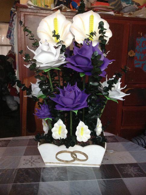 Centro de mesa foro manualidades para bodas for Mesa para manualidades