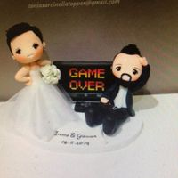Cake Topper Game Over - 2