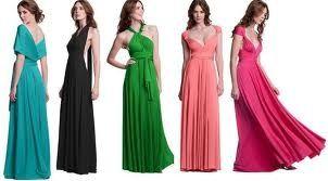 Formas de vestidos largos