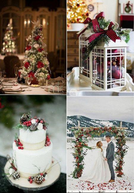 Espíritu navideño en tu boda 2