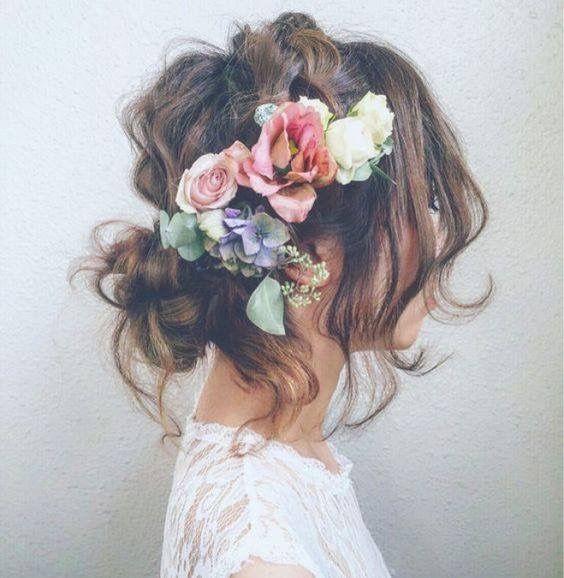 🌟🌟Tocados con flores 1
