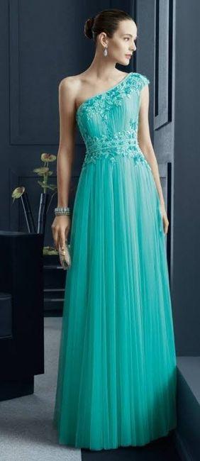 Damas Con Vestido Color Jade Foro Moda Nupcial Bodas