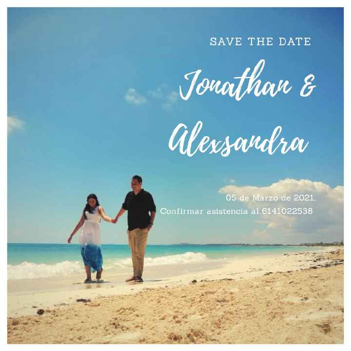Nuestro Save the date 🏝️ - 1