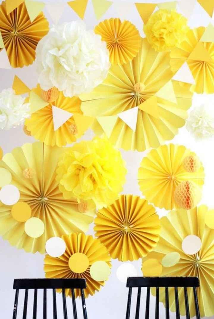 Manualidades de boda en amarillo 🌈 - 5