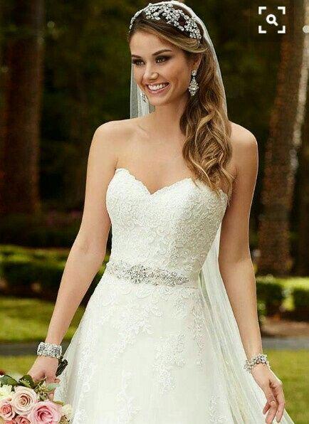 qué accesorios usar para un vestido de novia strapless?? - foro moda