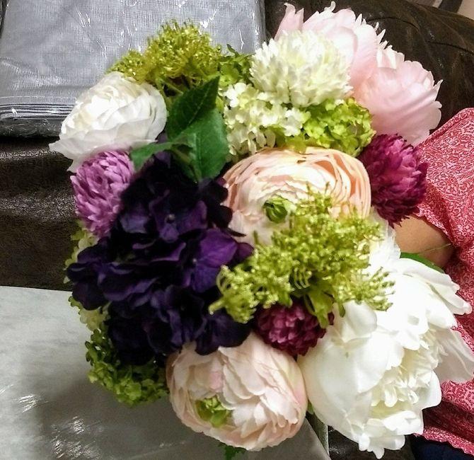 Mi Ramo De Flores Artificiales Foro Manualidades Para Bodas - Manualidades-con-flores-artificiales