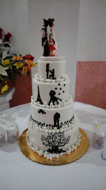 Pastel de bodas $ 2