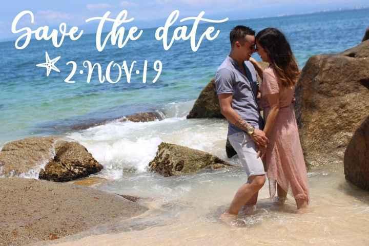 Save the date en la playa 😎 - 1
