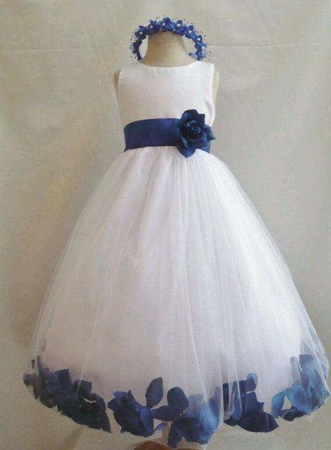 Vestido de novia con azul turquesa