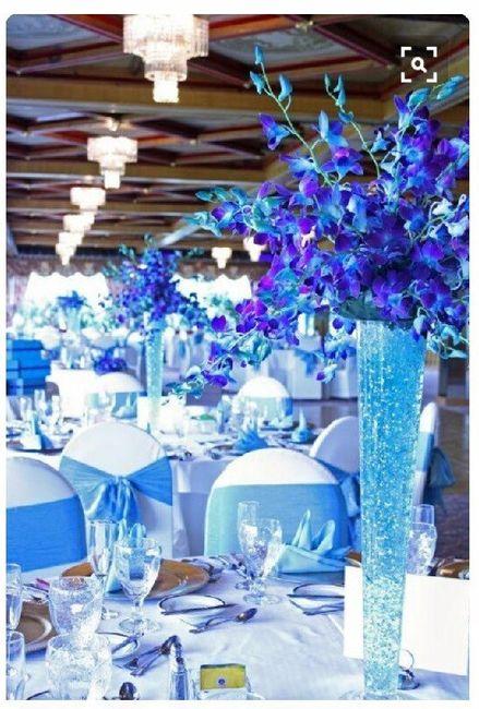 Boda en tonos azul y morado 17